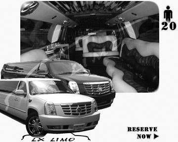 Cadillac Escalade 20 passenger SUV Limousine for rental in Salt Lake City, UT